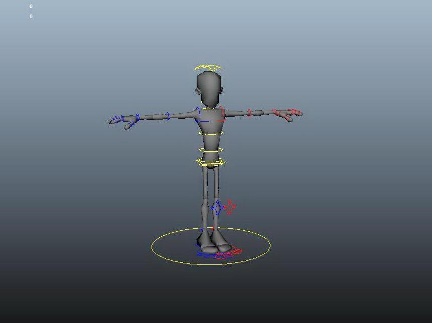 Man Character Rig 3d rendering