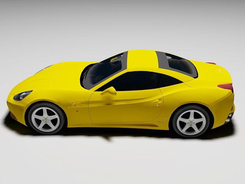 Ferrari California Spyder 3d rendering