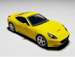 Ferrari California Spyder 3d preview