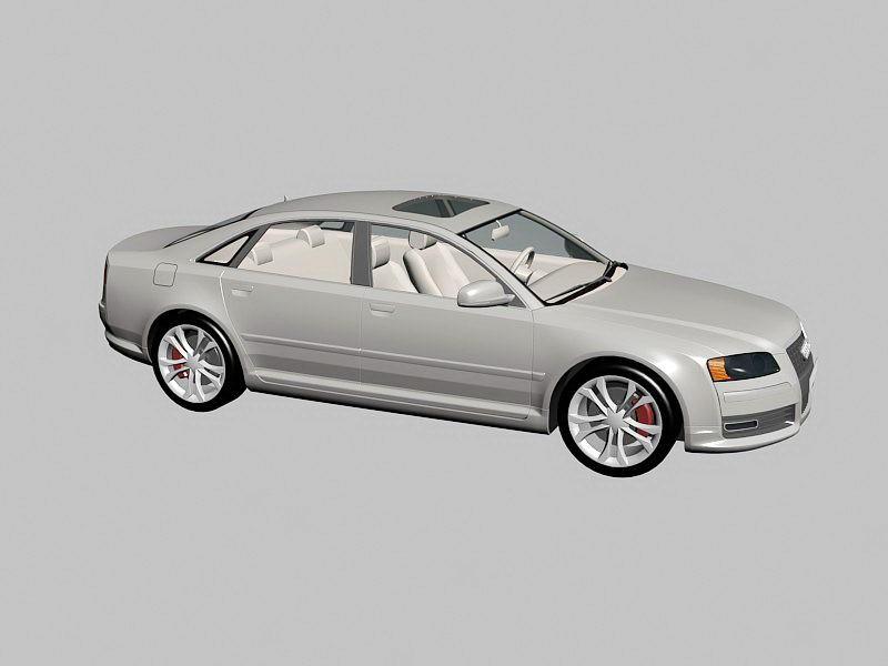 Audi A8 Luxury Sedan 3d rendering