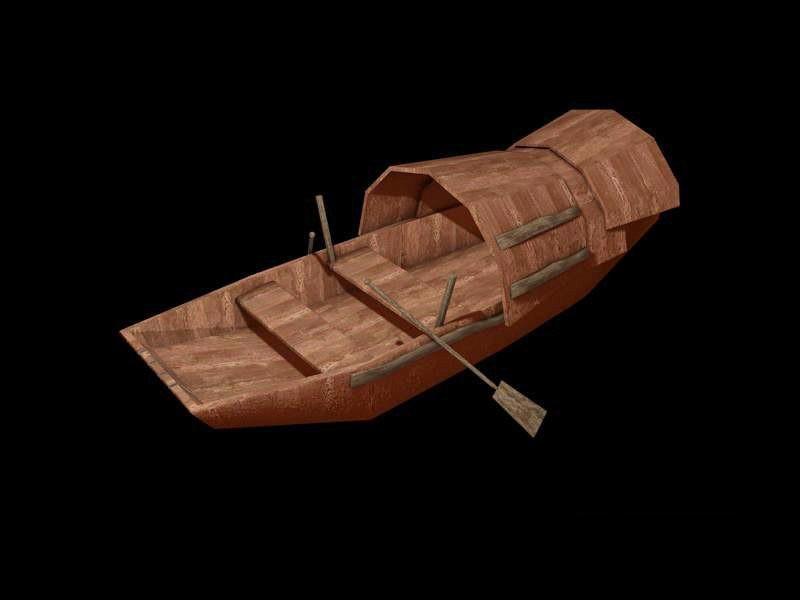 Vintage Row Boat 3d rendering