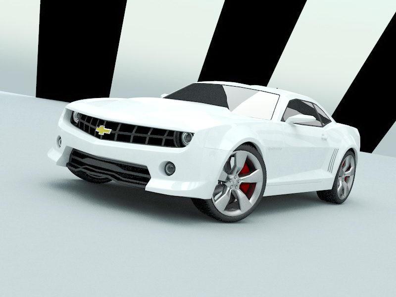 Chevrolet Camaro 3d rendering