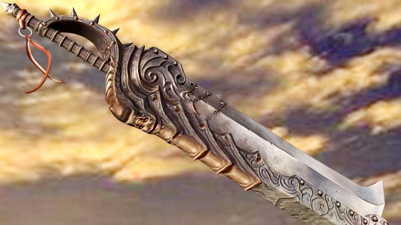 Anime Heavy Sword 3d rendering