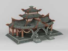 Traditional Chinese Reception Hall 3d preview
