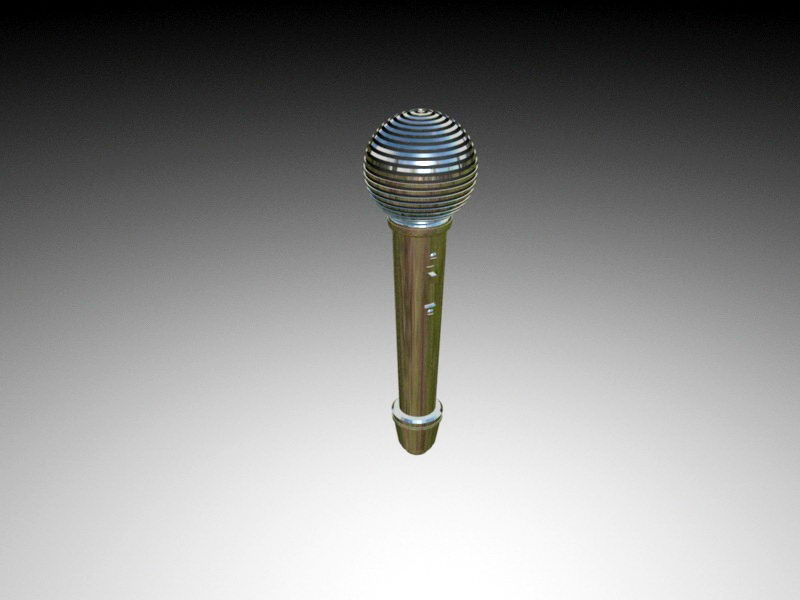 Dynamic Microphone 3d rendering