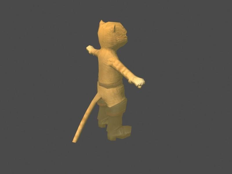 Cat Man 3d rendering