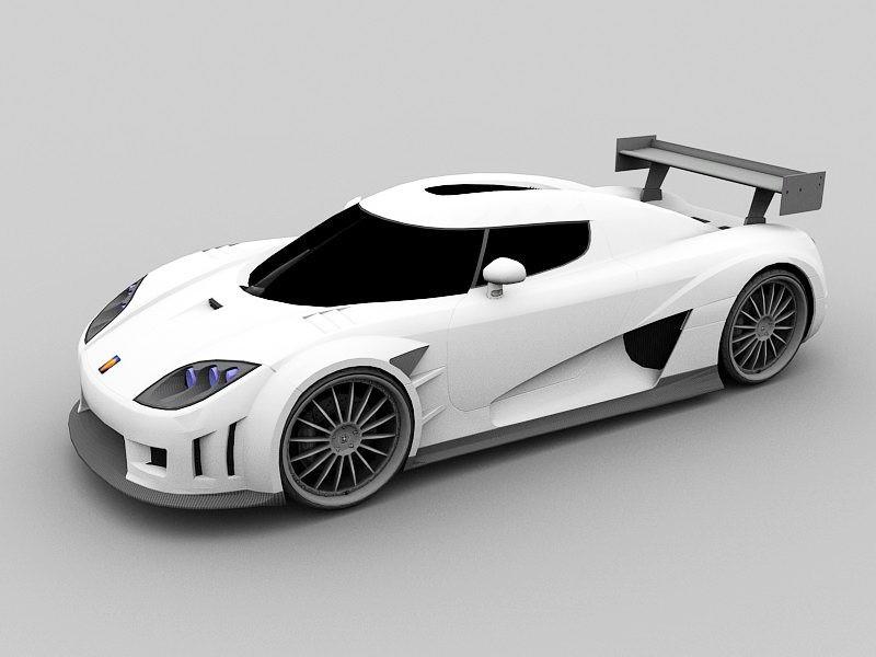 GT Sport Car 3d rendering