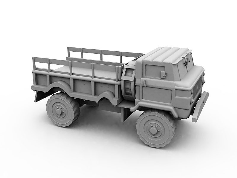 Vintage Dump Truck 3d rendering