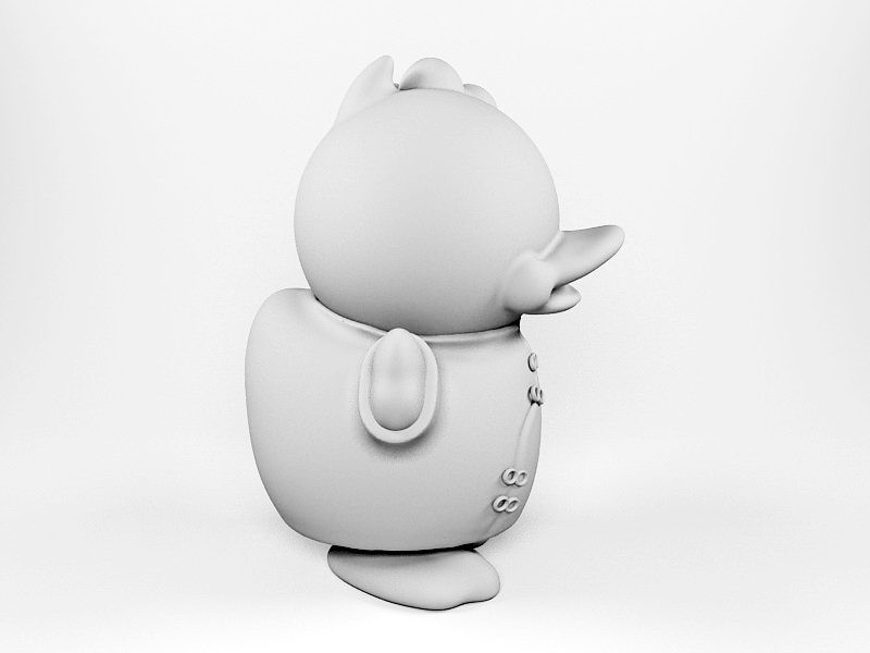 Cartoon Duck 3d rendering