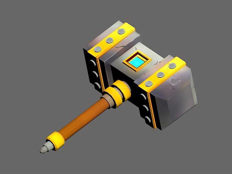 Cyberpunk Hammer 3d rendering