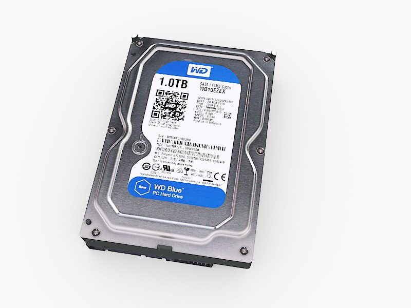 WD Hard Disk Drive 3d rendering
