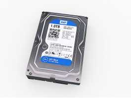 WD Hard Disk Drive 3d preview