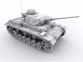 Panzer III Medium Tank 3d preview