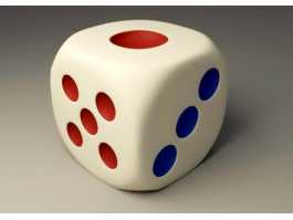 6 Sided Dice 3d preview