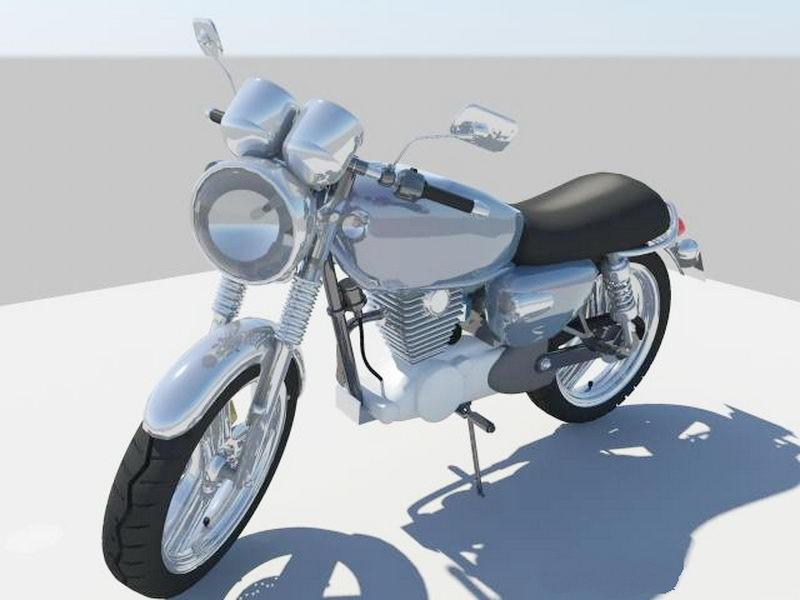 Retro Motorcycle 3d rendering
