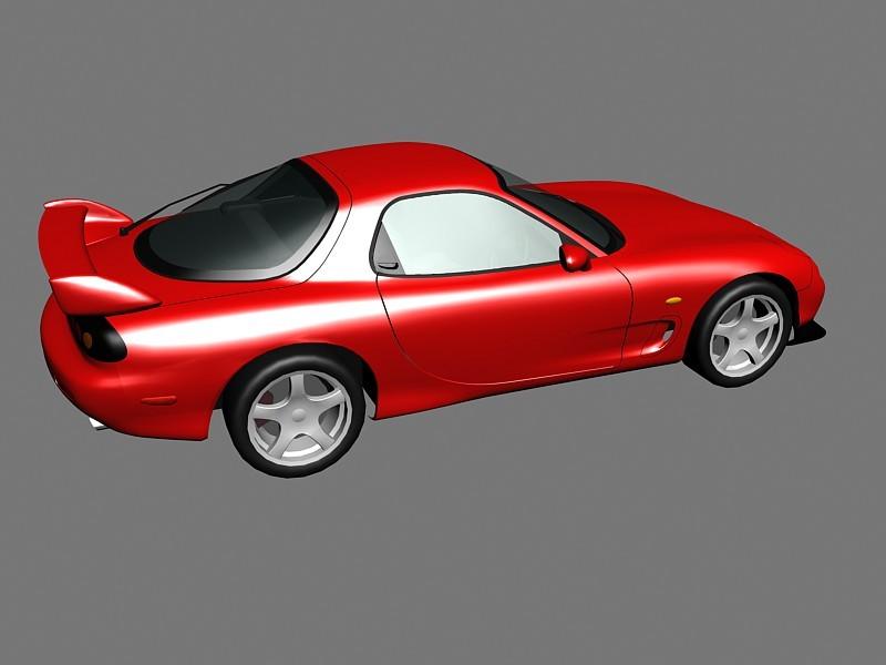 Mazda RX-7 3d rendering