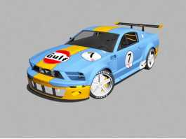Ford Mustang GT Race Car 3d preview