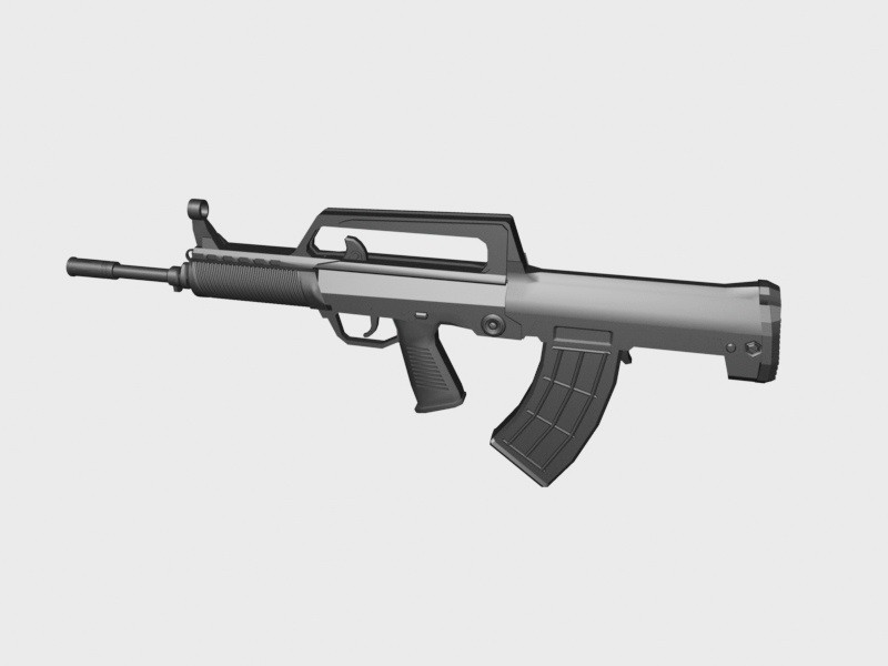 Type 95 Automatic Rifle 3d rendering