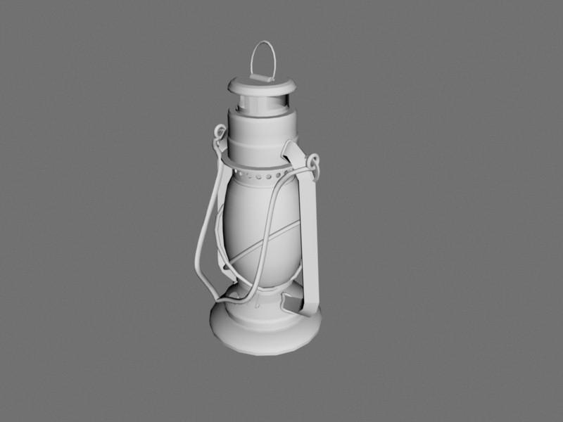 Kerosene Lantern 3d rendering