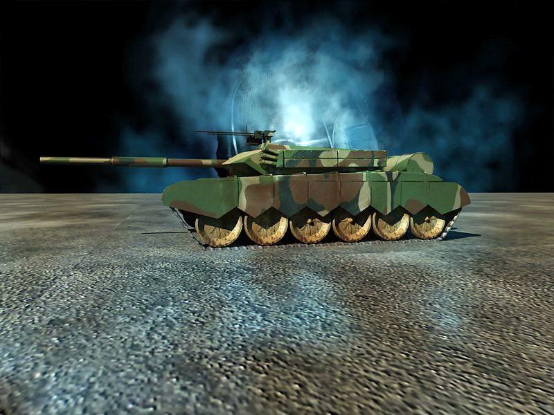 Type 99 MBT 3d rendering