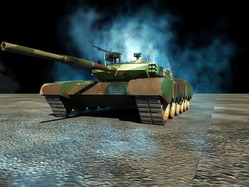 Type 99 MBT 3d rendering
