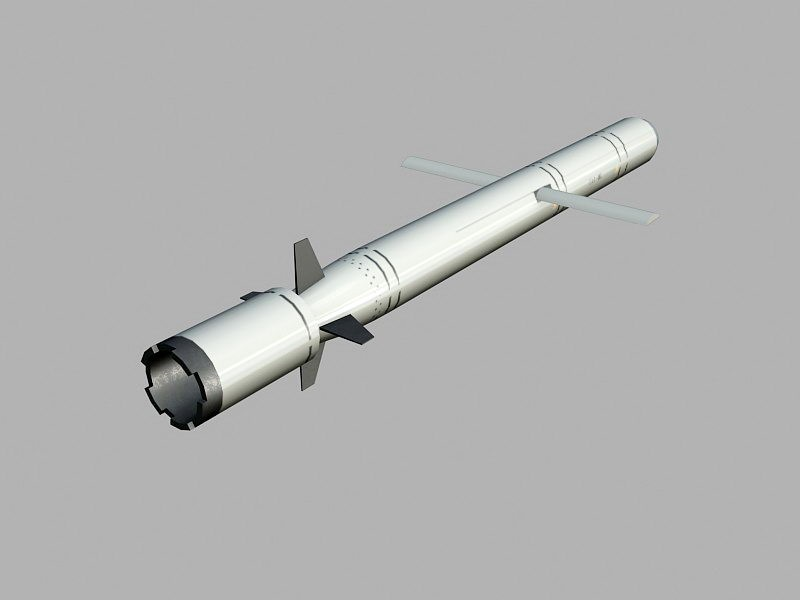 Cruise Missile 3d rendering