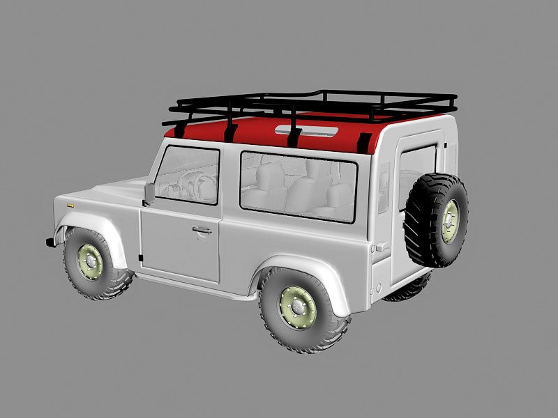 Land Rover Defender 90 3d rendering