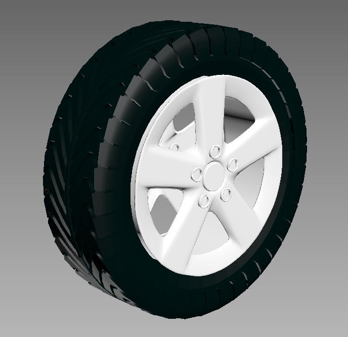 Tire Wheel 3d rendering