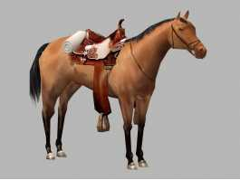Arabian Horse with Saddle 3d preview