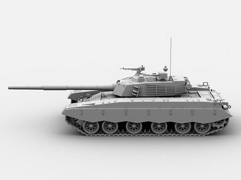 Type 96 Tank 3d rendering
