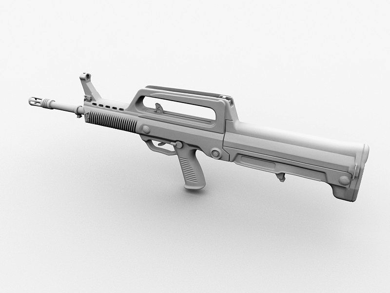 QBZ-95 Assault Rifle 3d rendering