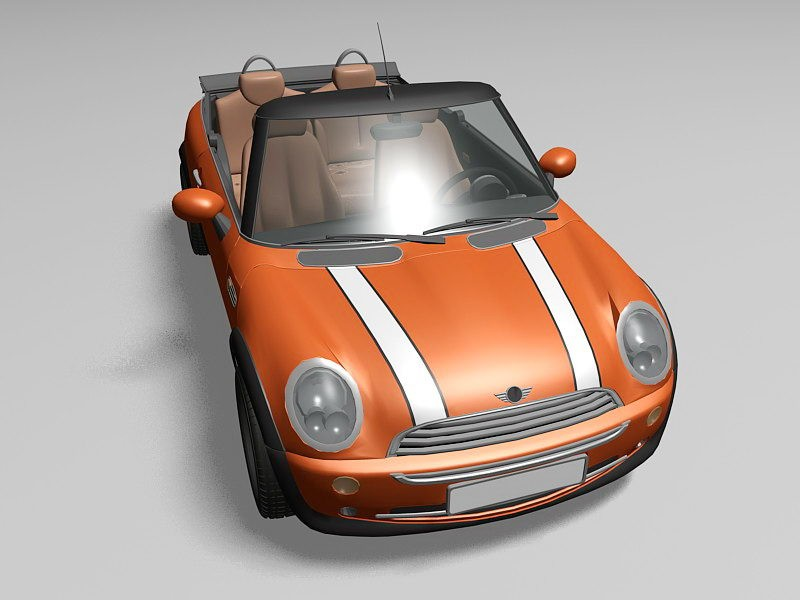 Mini Cooper Convertible 3d rendering
