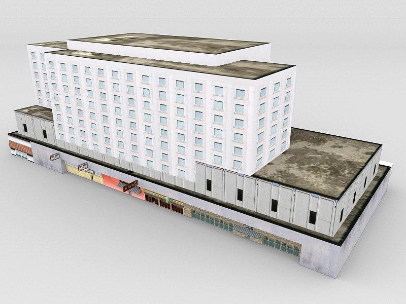 GTA Vice City Building 3d rendering
