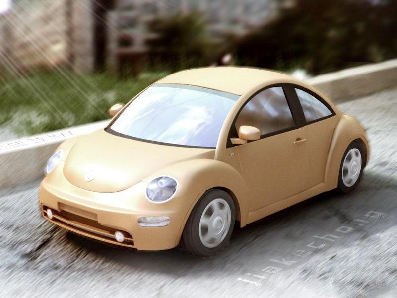 VW Beetle Dune 3d rendering