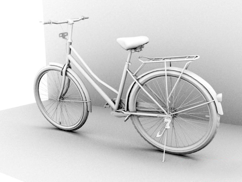 Utility Bicycle 3d rendering