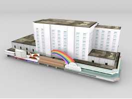 GTA Vice City Building 3d preview