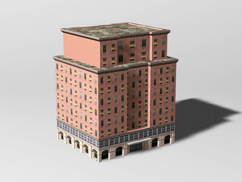 Old Apartment Building 3d rendering