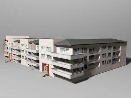 City Apartment Building 3d preview