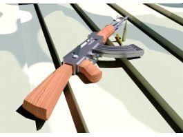 AK47 Arnold 3d preview