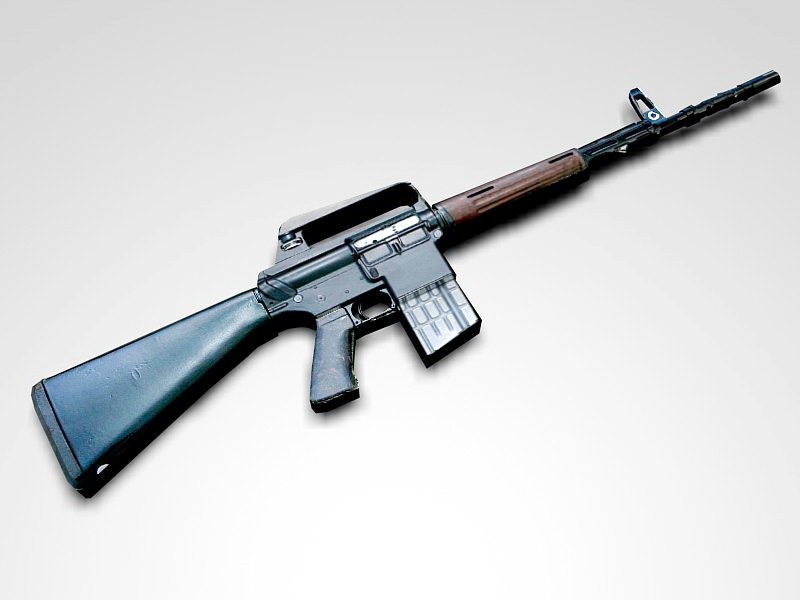 AR-10 Rifle 3d rendering