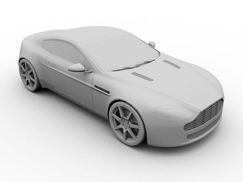 Aston Martin Virage 3d rendering