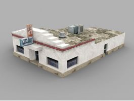 Old Restaurant Exterior 3d preview