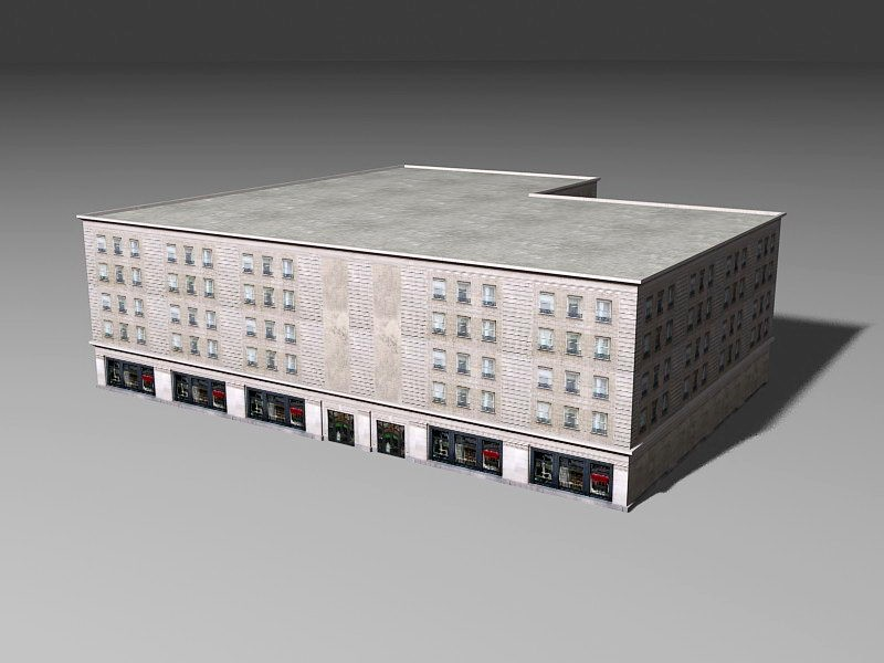 Old Historic Hotel 3d rendering