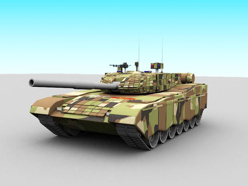 Chinese Type 99 Tank 3d rendering