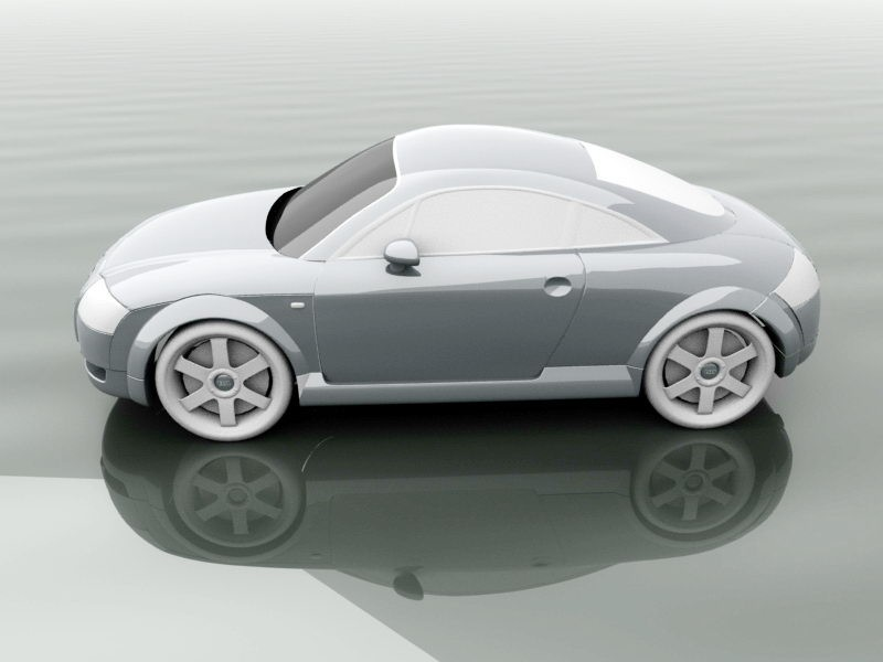 Audi TT 3d rendering