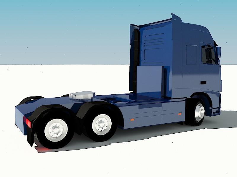 Volvo FH-16 Truck 3d rendering