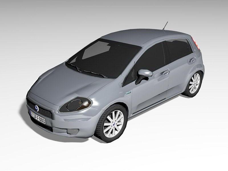 Fiat Punto Hatchback 3d rendering