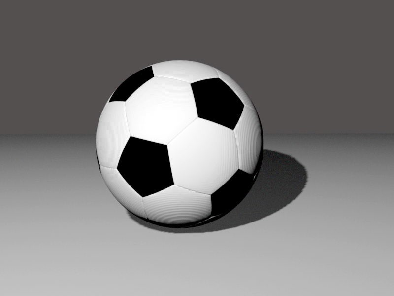 Association Football 3d rendering