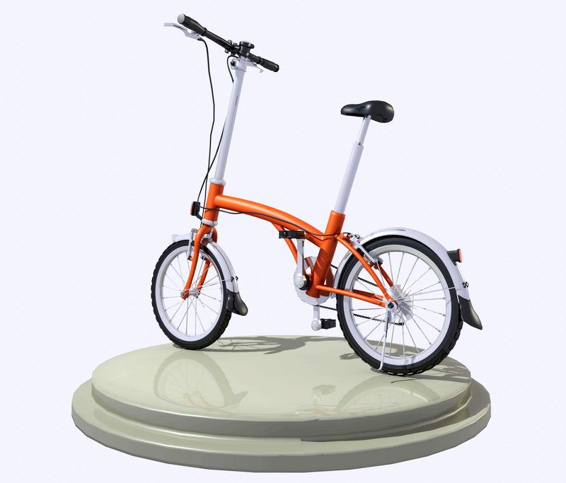 Small City Bicycle 3d rendering