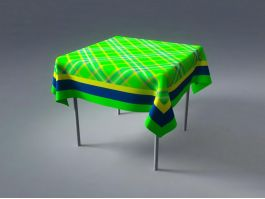 Table with Tablecloth 3d preview